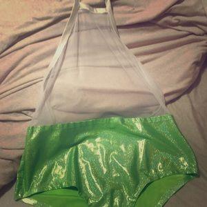 Iheartraves lime green bodysuit